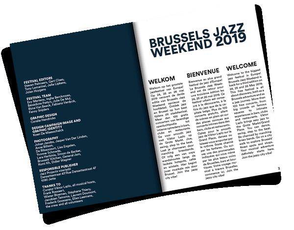 photo about Printable Folder titled Brussels Jazz Weekend 2019 Printable Folder